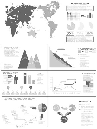 demographics: INFOGRAPHIC DEMOGRAPHICS 8 GREY Illustration