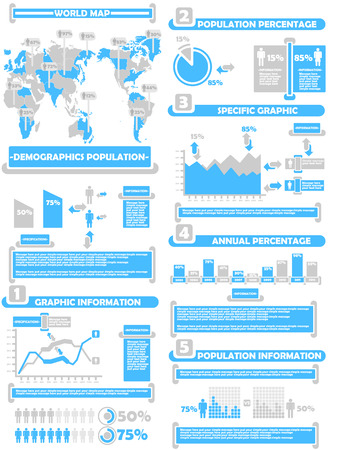 demographics: INFOGRAPHIC DEMOGRAPHICS WORLD PERCENTAGE BLUE