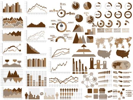 demografico: NUEVO ESTILO WEB elementos de Infograf�a DEMOGR�FICA DE BROWN Vectores