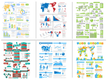 SIX INFOGRAPHIC DEMOGRAPHIC COLLECTION Illustration