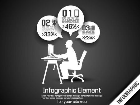 BUSINESS MAN INFOGRAPHIC OPTION Stock Vector - 28024678