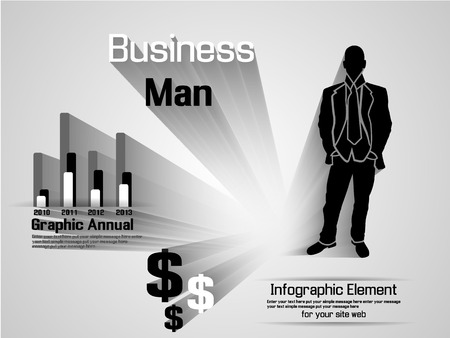 INFOGRAPHIC MAN BUSINESS OPTION Stock Vector - 28024681