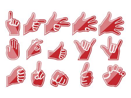 HANDS IN RED Stock Vector - 28024719
