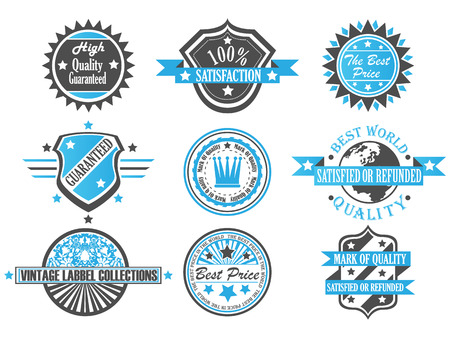 SET OF VINTAGE LABEL COLLECTION Stock Vector - 28024747