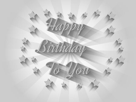 HAPPY BIRTHDAY TO YOU IN GREY Stock Vector - 28022910