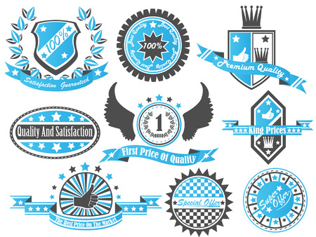 SET OF VINTAGE LABEL COLLECTION Stock Vector - 28024666