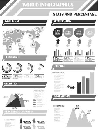 demographics: INFOGRAPHIC DEMOGRAPHICS 9 ORANGE GREY Illustration