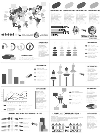demographics: INFOGRAPHIC DEMOGRAPHICS WEB ELEMENTS GREY