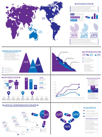 demographics: INFOGRAPHIC DEMOGRAPHICS 8 PURPLE Illustration