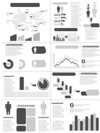 demographics: INFOGRAPHIC DEMOGRAPHICS NEW STYLE GREY Illustration