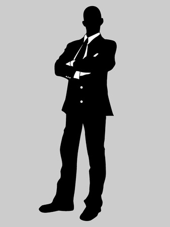 BUSINESS MAN BLACK AND WHITE