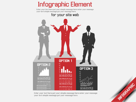 BUSINESS MAN MODERN INFOGRAPHIC  Illustration