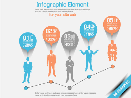 BUSINESS MAN MODERN INFOGRAPHIC  Vector