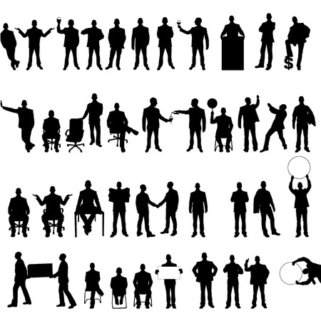 silhouette of man: MEGA COLLECTION OF FORTY BUSINESS MAN