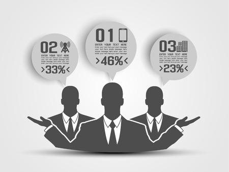 BUSINESSMAN CONCEPT OF FIVE OPTION GREY 2