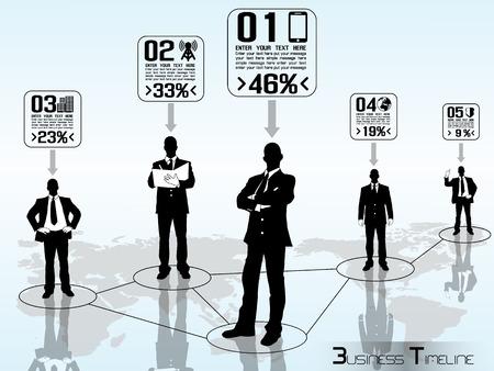 CONCEPT BUSINESSMAN TIMELINE