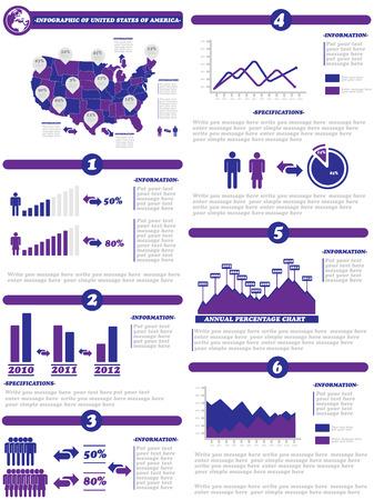 demographics: INFOGRAPHIC DEMOGRAPHICS OF STATES OF AMERICA PURPLE