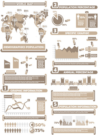 demographics: INFOGRAPHIC DEMOGRAPHICS WORLD PERCENTAGE BROWN