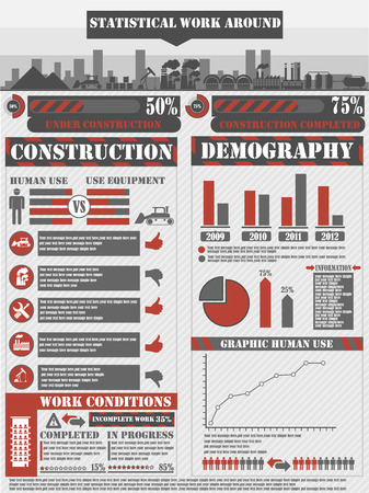 INFOGRAPHIC WORK RED