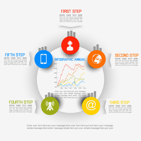 INFOGRAPHIC ELEMENT NEW STYLE BUSINESS Illustration