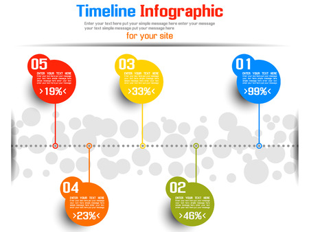 TIMELINE INFOGRAPHIC NEW STYLE  6 Vector