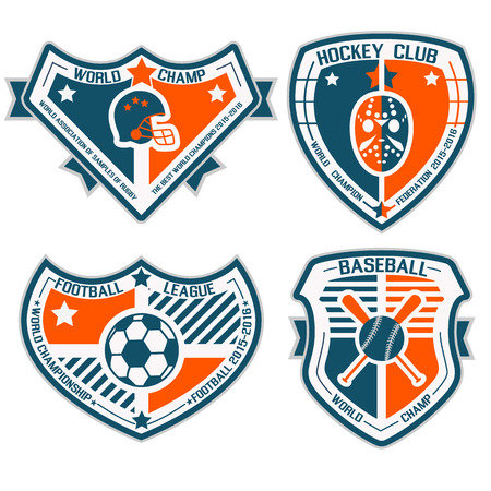 SPORT SHIELD AND EMBLEMS 2 Vector