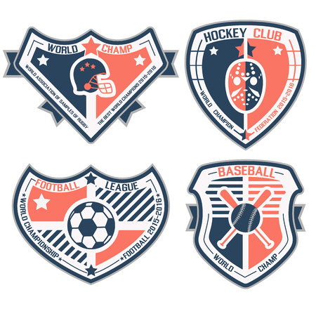 SPORT SHIELD AND EMBLEMS Vector