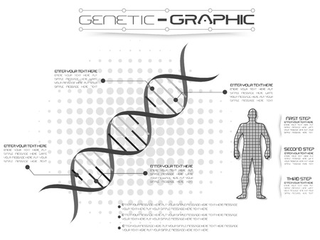 infertility: INFOGRAPHIC GENETIC Illustration