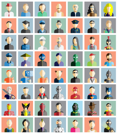 character of people: MEGA COLLECTION 56 OF PEOPLE ICONS FLAT AVATAR