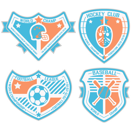 SPORT SHIELD AND EMBLEMS 3 Vector