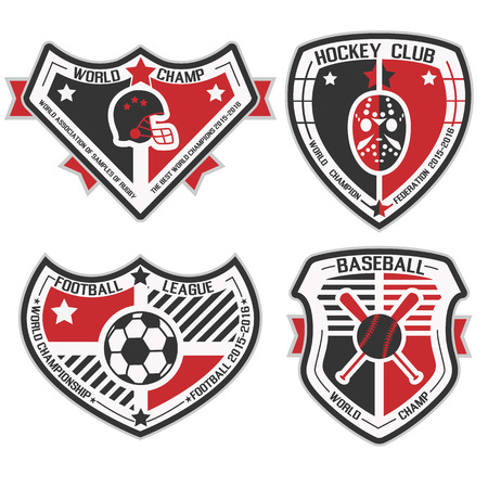 SPORT SHIELD AND EMBLEMS 4 Vector