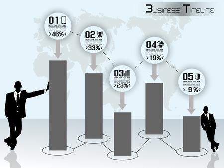 CONCEPT BUSINESSMAN TIMELINE GRAPHIC