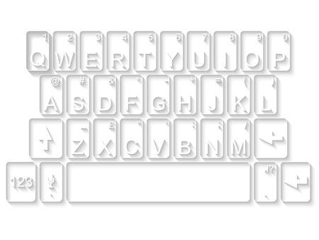 qwerty: Qwerty keyboard flat