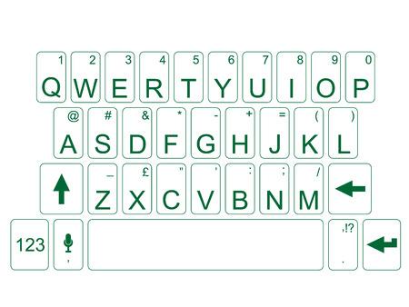 qwerty: Qwerty keyboard green