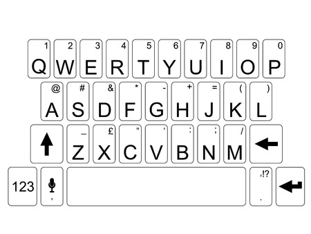 hands on keyboard: Qwerty keyboard