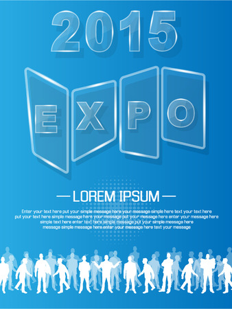 EXPO 2013 ANNUAL EVENT ADVERTISING GLASS Vector