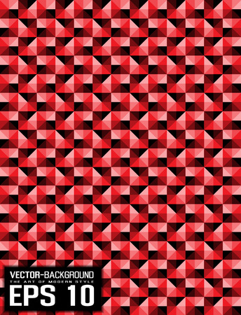 ABSTRACT BACKGROUND PATTERN RED MOSAIC
