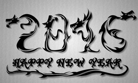 2016 HAPPY NEW YEAR DRAGON