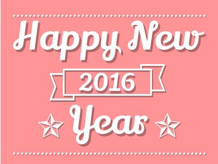 new years: 2016 HAPPY NEW YEARS PINK