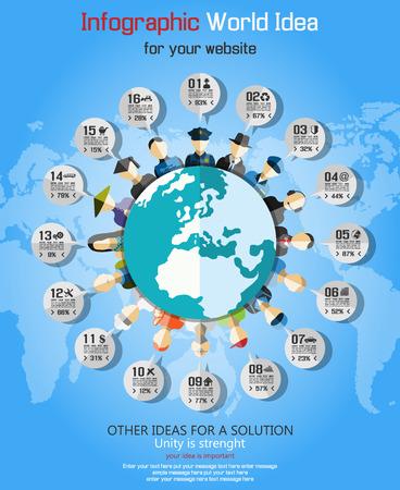 world ideas:  Teamwork communication concept art people flat style  WORLD IDEAS