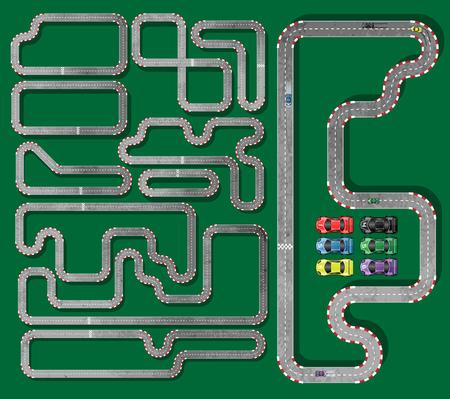 racetrack:   Ten Tracks with circuit racing cars