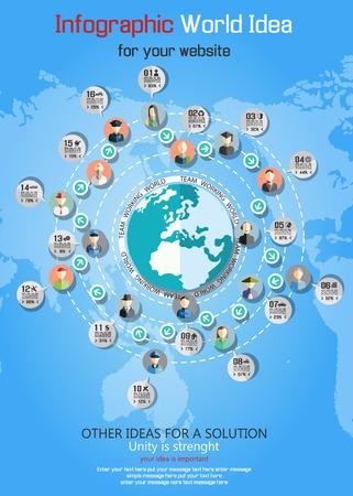 world ideas: TEAMWORK COMMUNICATION CONCEPT ART PEOPLE FLAT STYLE WORLD IDEAS BUSINESS Illustration