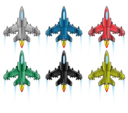 combat: COMBAT AIRCRAFT ICON FLAT