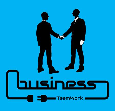 BUSINESS TEAMWORK BACKGROUND FLYER POSTER DESIG BLUE Illustration