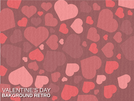 st valentin: VALENTINES  DAY BACKGROUND SIMPLE WITH HEART RETRO VINTAGE STYLE Illustration