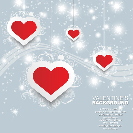 st  valentin: VALENTINES DAY BACKGROUND HEART AND STARS EVENT TEMPLATE