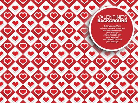 st valentin: VALENTINES BACKGROUND HEARTS A CHESS Illustration