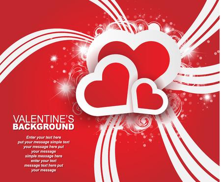 st valentin: VALENTINES BACKGROUND HEART AND DECORATION