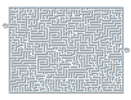 brainteaser: LABYRINTH BLACK AND WHITE SIMPLE GREY