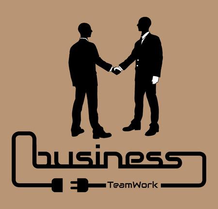 desig: BUSINESS TEAMWORK BACKGROUND POSTER DESIG BROWN